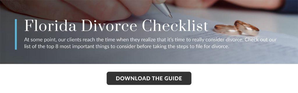 Florida Divorce Checklist